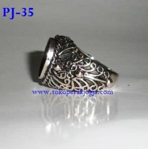 cincin perak, cincin perak pria, cincin emban batu, model cincin pria