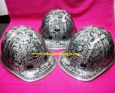 Carved helmet, Helm zilver houtsnijwerk, Silver carving helmet, Шлем серебра резьба
