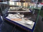 miniatur kapal, miniatur kapal kri mandau, miniatur kapal bahan silver,miniatur silver kotagede,miniatur perak kotagede, kerajinan miniatur silver, miniatur viligri